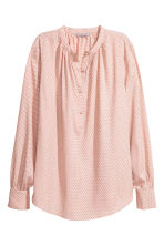 Crêpe blouse - Powder pink/Black spotted - Ladies | H&M IE 2
