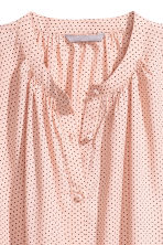 Crêpe blouse - Powder pink/Black spotted - Ladies | H&M IE 3