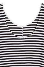 A-line jersey dress - White/Striped - Ladies | H&M 3