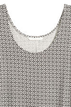 A-line jersey dress - Natural white/Patterned - Ladies | H&M 3