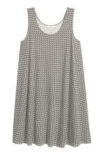 A-line jersey dress - Natural white/Patterned - Ladies | H&M 2