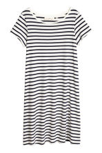 Jersey dress - White/Striped -  | H&M CA 2
