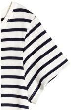 Jersey dress - White/Striped -  | H&M 3