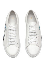 Leather trainers - White/Waves - Men | H&M CA 2