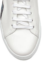 Leather trainers - White/Waves - Men | H&M CN 3