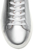 Leather trainers - Silver-coloured - Men | H&M IE 3