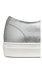 Leather trainers - Silver-coloured - Men | H&M IE 4