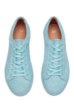 Leather trainers - Light blue - Men | H&M 3