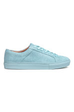 Leather trainers - Light blue - Men | H&M 2