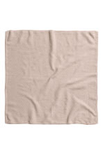 Textured-knit Cotton Blanket - Light taupe - Kids | H&M CA 2