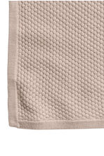 Textured-knit Cotton Blanket - Light taupe - Kids | H&M CA 3