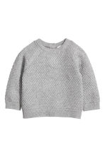 Textured-knit Sweater - Gray - Kids | H&M CA 1