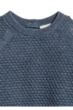 Textured-knit Sweater - Blue melange -  | H&M CA 2
