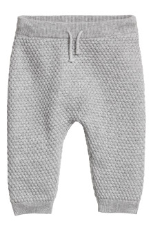 Textured-knit Pants
