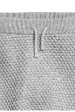 Textured-knit trousers - Grey marl -  | H&M 2