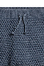 Textured-knit trousers - Blue marl -  | H&M 2