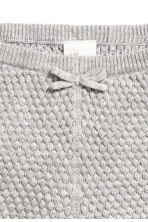 Textured-knit cotton shorts - Grey marl - Kids | H&M CN 2