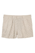 H&M+ Striped shorts - Natural white/Striped - Ladies | H&M CN 2