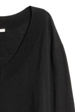 Fine-knit merino wool jumper - Black - Ladies | H&M CN 3