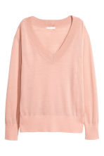 Fine-knit merino wool jumper - Light pink - Ladies | H&M 2
