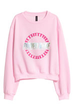 Sweatshirt with a motif - Pink - Ladies | H&M 1