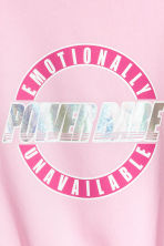 Sweatshirt with a motif - Pink - Ladies | H&M 2