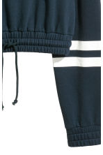 Cropped hooded top - Dark blue - Ladies | H&M 3