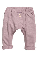 Slub jersey trousers - Heather purple - Kids | H&M 1