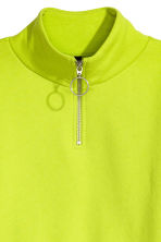 Short sweatshirt - Neon green - Ladies | H&M CN 3