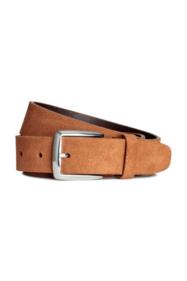 Suede belt - Light brown - Men | H&M CN 1