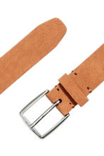 Suede belt - Light brown - Men | H&M CN 2