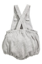 Cotton dungaree shorts - Grey marl - Kids | H&M 2