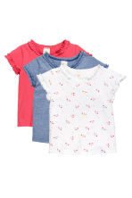 3-pack cotton tops - Blue/Narrow striped - Kids | H&M CN 1