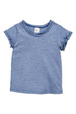 3-pack cotton tops - Blue/Narrow striped - Kids | H&M CN 2