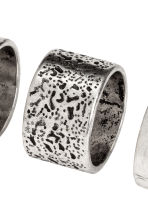 3-pack rings - Silver-coloured - Men | H&M 2