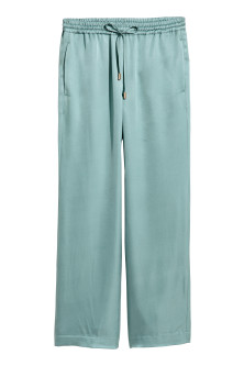 Pantalon ample en satin