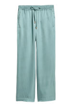 Wide satin trousers - Blue-grey - Ladies | H&M 2