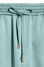 Wide satin trousers - Blue-grey - Ladies | H&M 3