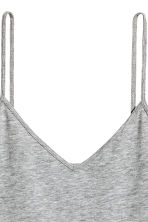 Strappy V-neck jersey top - Grey marl - Ladies | H&M CN 3