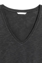 Slub jersey V-neck top - Black - Ladies | H&M 3