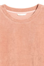 Velour sweatshirt - Dark powder pink - Ladies | H&M CN 2
