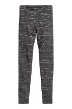 Jersey leggings - Dark grey/Glittery - Kids | H&M 2