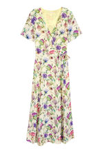 Patterned wrap dress - Light yellow/Floral - Ladies | H&M 2