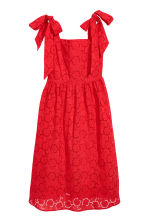 Dress with broderie anglaise - Red - Ladies | H&M 2
