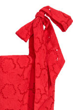 Dress with broderie anglaise - Red - Ladies | H&M CA 3