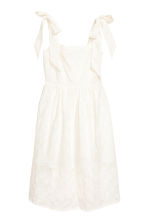 Dress with broderie anglaise - White - Ladies | H&M 2