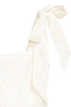 Dress with broderie anglaise - White - Ladies | H&M 3