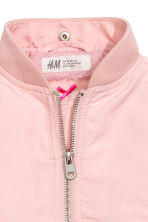 Hooded bomber jacket - Light pink - Kids | H&M 4