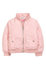 Hooded bomber jacket - Light pink - Kids | H&M CN 3