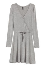 V領洋裝 - Grey marl - Ladies | H&M 1